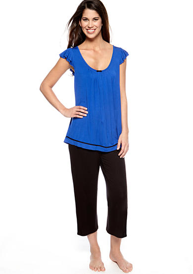 Ellen Tracy Blue Me a Kiss Top & Blue Me a Kiss Crop Pant