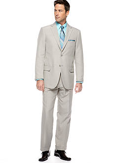 Saddlebred® Classic Fit Sage Gray Stria Suit Separates