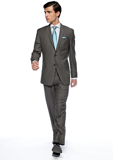 Calvin Klein Slim Fit Charcoal Neat Suit Separates