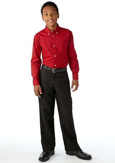 IZOD Izod Woven Button Front Shirt & Suit Pant Boys 8-20