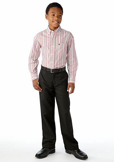 IZOD Izod Stripe Woven Button Front Shirt & Suit Pants Boys 8-20