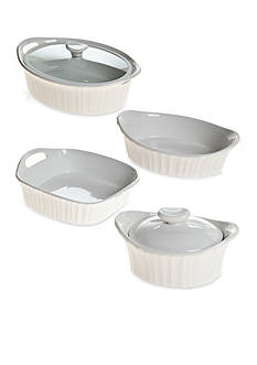 Corningware French White III Bakeware