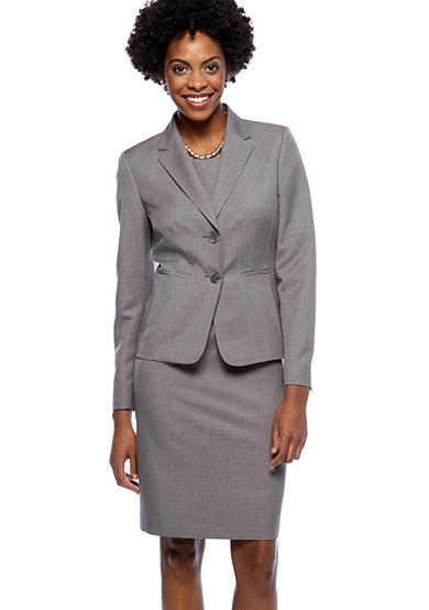 Kasper Suit Separates Melange Sheath Dress with Coordinating Jacket