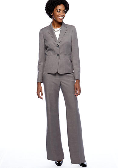 Kasper Suit Separates Melange Sheath Jacket with Coordinating Pant and Charmeuse Cami