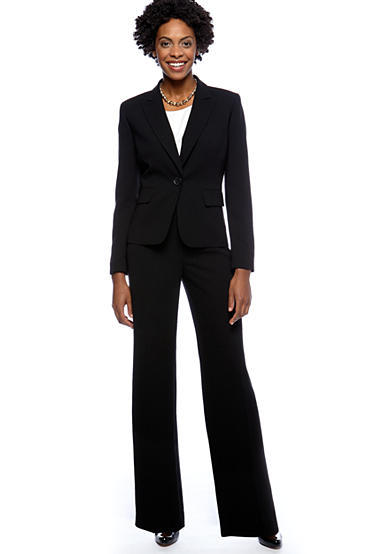 Kasper Suit Separates Seasonless Crepe Jacket with Coordination Pant and Ivory Cami
