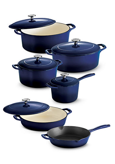 Tramontina Gourmet Cobalt Enameled Cast Iron Cookware Collection - Online Only