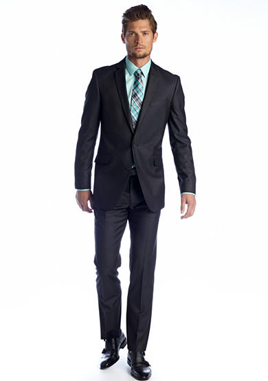 Kenneth Cole Reaction Slim Fit Charcoal Tic Suit Separates