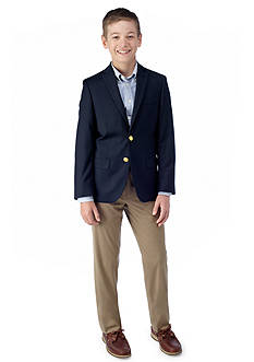 LAUREN Ralph Lauren Dress Apparel Navy Blazer & Tan Trousers Boys 8-20
