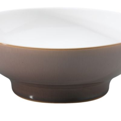 Casual Dinnerware Collection: White/Brown Denby Truffle Saucer