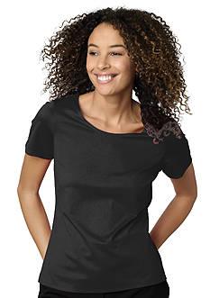 Kim Rogers® Short Sleeve Nylon Spandex Tee