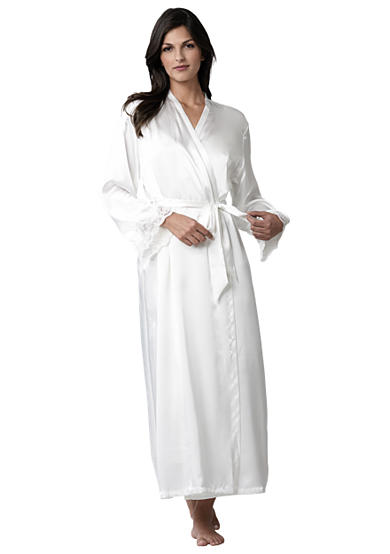 Jones New York Satin Wrap Robe