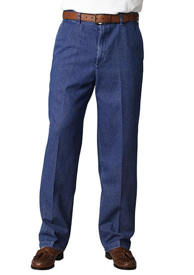 Haggar® Classic-Fit Work To Weekend™ Flat-Front Denim Non-Iron Pants