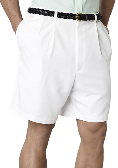 Haggar® Big & Tall Cool 18 Pleated Microfiber Short
