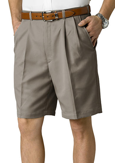Haggar® Big & Tall Cool 18® Classic-Fit Pleated Shorts
