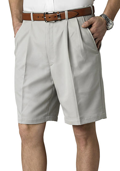 Haggar® Cool 18 Pleated Microfiber 9.5 Shorts