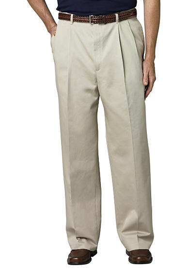 Haggar® Big & Tall Work to Weekend® Classic-Fit Pleated Pants