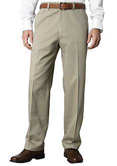 Savane® Straight-Fit Flat-Front Wrinkle Resistant Chino Pants