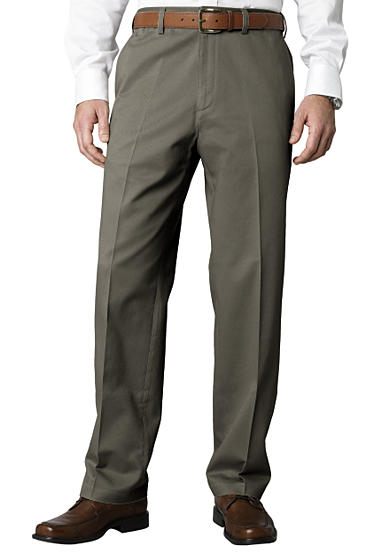 Savane® Straight-Fit Flat-Front Performance Comfort Waist Chino Pants