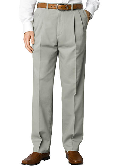 Savane® Big & Tall Chino Pleated Straight Fit Wrinkle-Free Pants