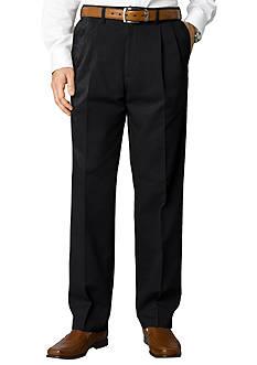 Savane Big & Tall Performance Chino Pleated Straight Fit Wrinkle-Free Pants