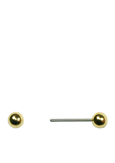 Napier Gold-Tone Ball Stud Earring