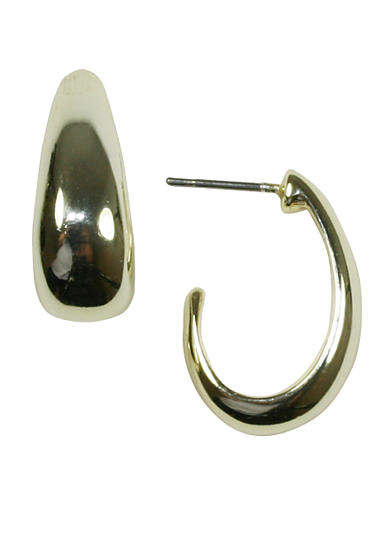 Napier Small Silver-Tone Hoop Earring