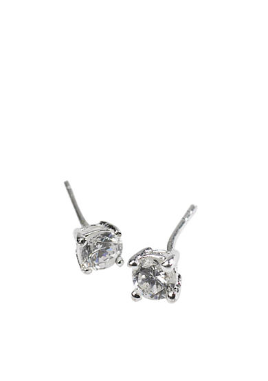 Belk Silverworks 5-mm. Round Cubic Zirconia Stud Earrings