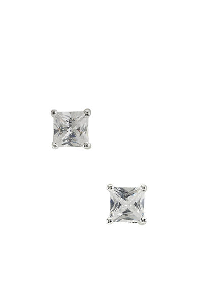 Belk Silverworks Princess-Cut 5-mm. Basket Set Cubic Zirconia Earrings