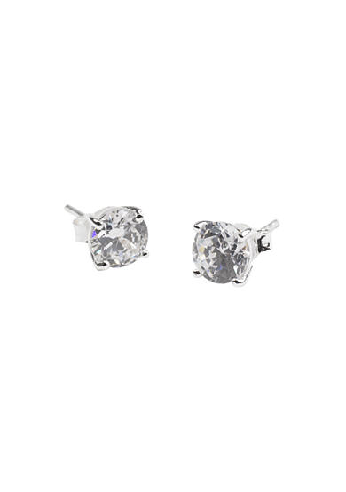 Belk Silverworks 6.5MM Round Cubic Zirconia Earrings