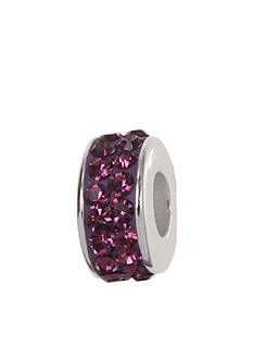 Belk Silverworks Amethyst Pave Crystal Originality Bead
