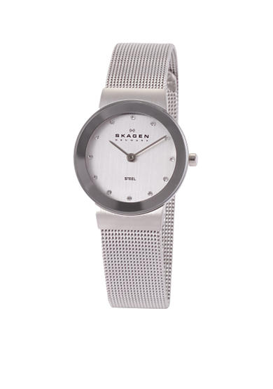 Skagen Stainless Steel Mesh with a Crystal Dial