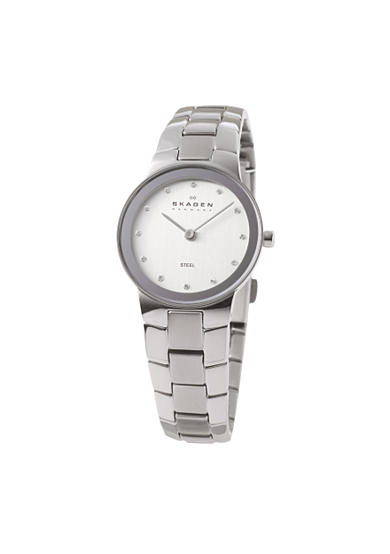 Skagen Stainless Steel Link with Crystals