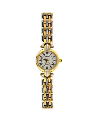Kim Rogers® Women's Roman Numeral Two-Tone Link Watch