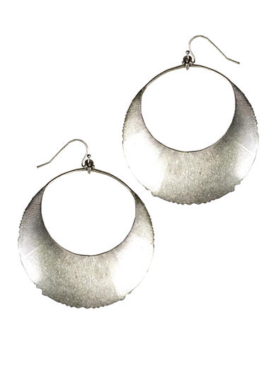 Jessica Simpson Garden Party Silver Hoop Earring