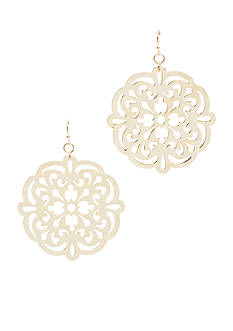 New Directions Drop Gold-Tone Earring