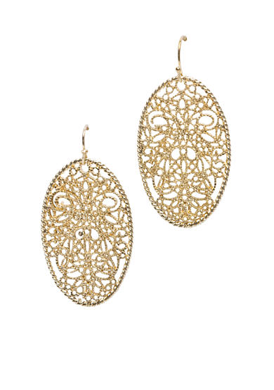 New Directions® Drop Gold-Tone Oval Earring