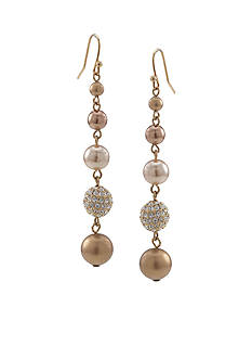 Carolee Gold-Tone Standard Linear Drop Earring