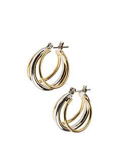 Kim Rogers® Sensitive Skin Two Tone Hoop Earrings