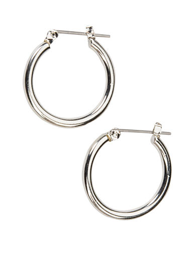 Kim Rogers® Sensitive Skin Medium Silver-Tone Hoop