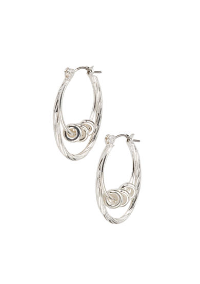 Kim Rogers® Sensitive Skin Silver Double Drop Hoop