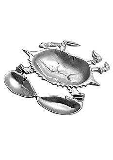 Wilton Armetale Crab Chip and Dip Tray