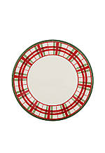 Holiday Gatherings Plaid Accent Plate 9-in.