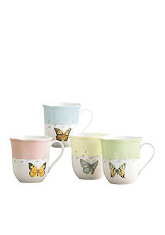 Lenox utterfly Meadow Set of 4 Mugs