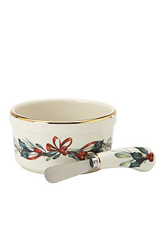 Lenox Winter Greetings Dip Bowl & Spreader