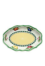 French Garden Fleurence Pickle Dish/Gravy Stand 9.5-in.