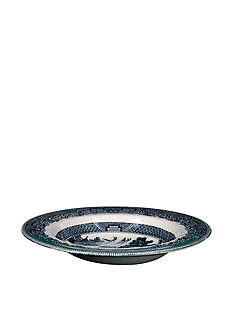 Johnson Brothers Willow Blue Rim Soup Bowl 8.5-in.