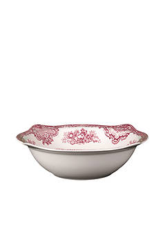 Johnson Brothers Old Britain Castles Pink Round Vegetable Bowl