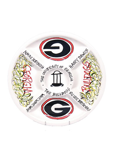 Georgia Bulldogs Divided Veggie Plate