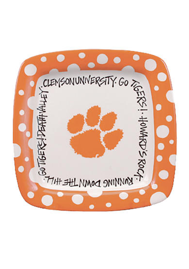 Clemson Tigers Square Plate