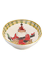 Old St. Nick Santa Oval Serving Bowl 17.25-in. x 11.5-in. x 3-in.